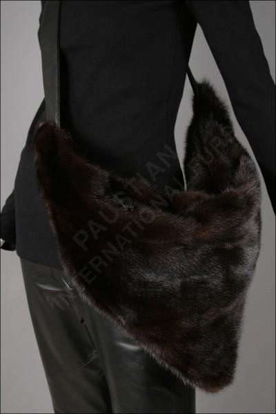 Exklusive Nerztasche aus Naturnerz und Leder