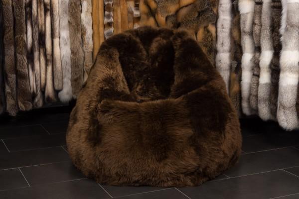 Pelz Sitzsack aus Lammfell