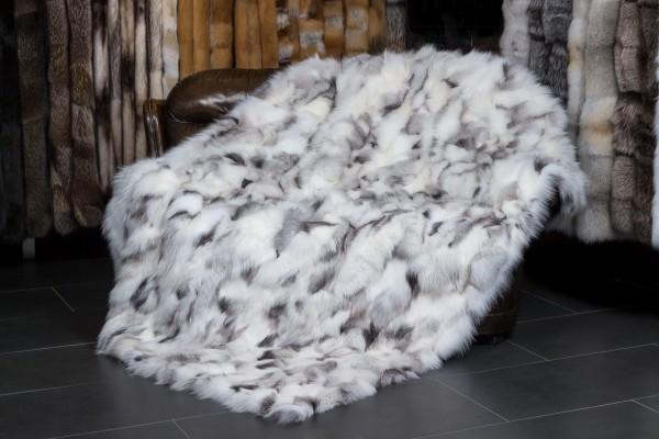 Shadow Blue Frost Fuchsstücken Decke