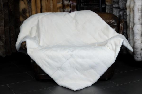 Weiße Nerz Pelzdecke doppelseitig Fell