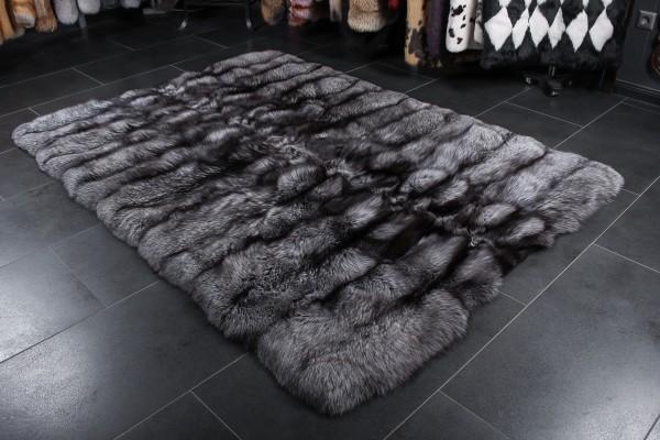 Silberfuchsfell Teppich Echtpelz