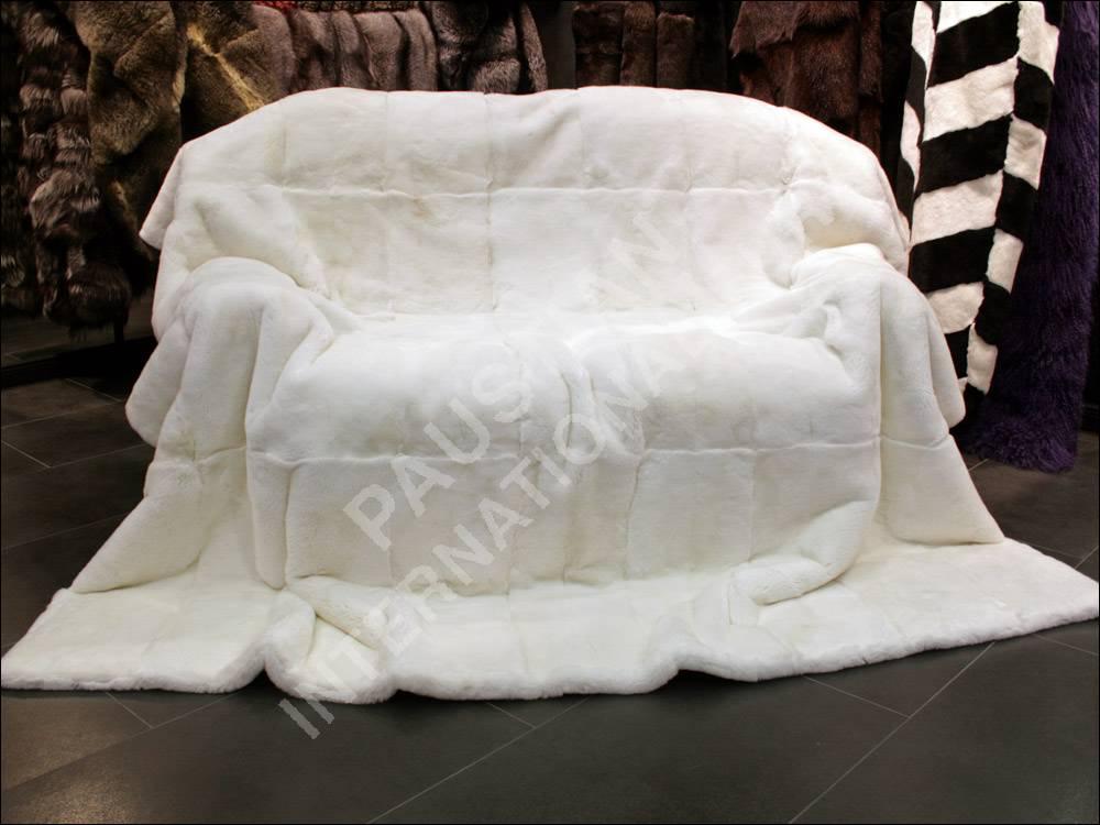 590 wei e rexkanin pelzdecke beidseitig fell echtpelz. Black Bedroom Furniture Sets. Home Design Ideas
