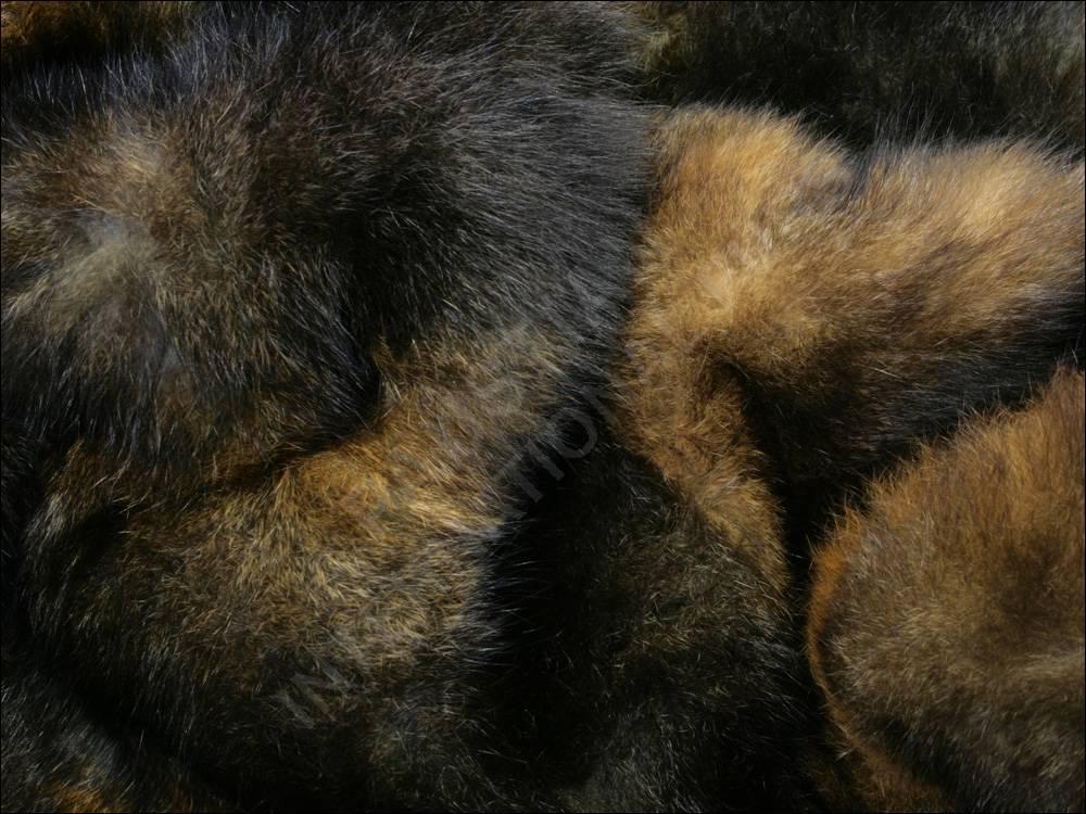 387 pelzdecke echt opossum braun felldecke pelzdecken. Black Bedroom Furniture Sets. Home Design Ideas
