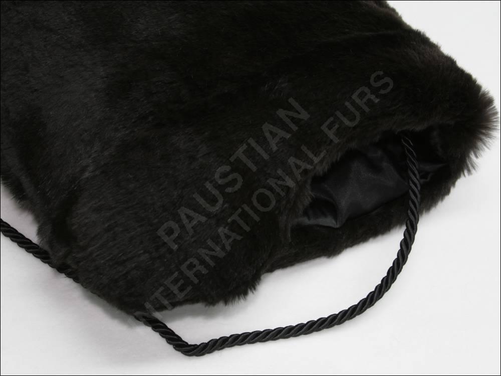286 pelzmuff fellmuff aus kaninchen dunkelbraun echtpelz. Black Bedroom Furniture Sets. Home Design Ideas