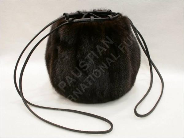 Pelz Muff-Tasche aus Nerz