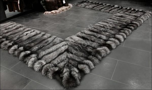 Pelz Bettvorleger aus SAGA Silberfuchs