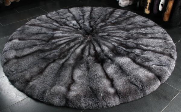SAGA Bluefrost Fuchsfell Pelzteppich in natur grau