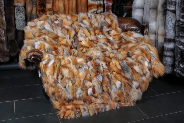 Rotfuchs Pelzdecke aus kanadischen Fuchsstücken