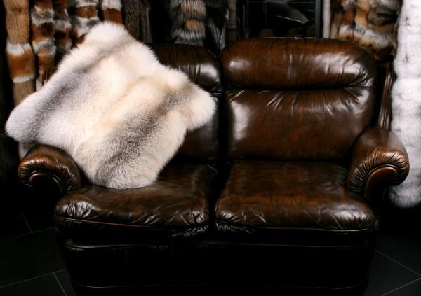 Skandinavisches Fawn Light Fuchs Fellkissen (SAGA Fur)