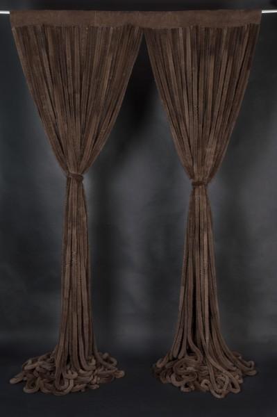 Echtfell Vorhänge aus Nerz in braun