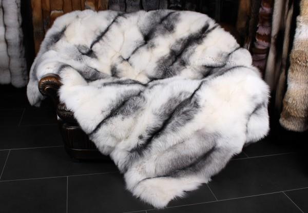 Shadow Blue Frost Fuchsdecke - Arctic Marble Style