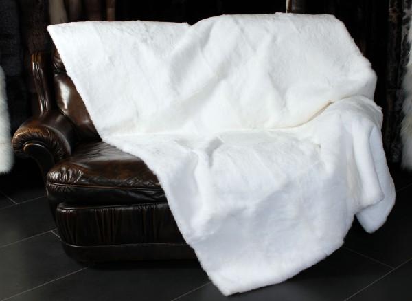 Kanindecke Weiß geschoren