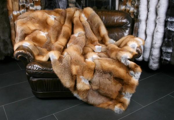 Kanadische Rotfuchs Pelzdecke naturell (Fur Harvesters)