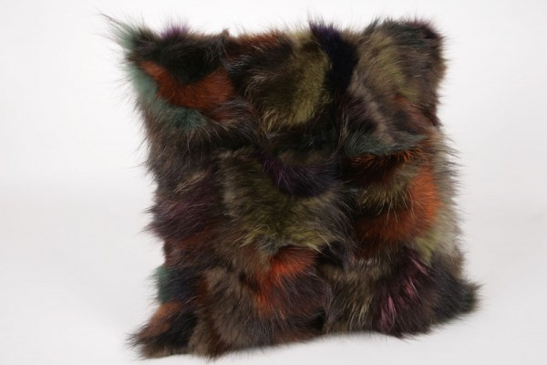Pelzkissen Multicolour - Waschbär