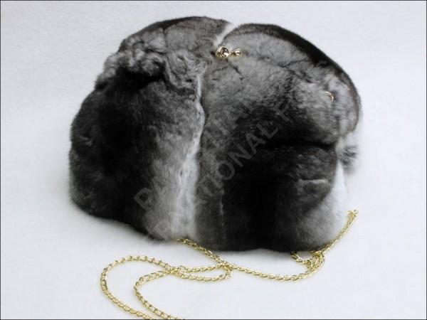Pelz Muff-Tasche aus Chinchilla