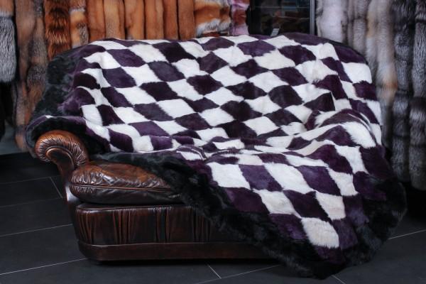 Echtfell Kanin Decke aus deutschen Rassekaninchen