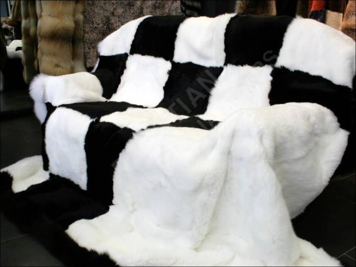 Как сшить покрывала из меха на кровать