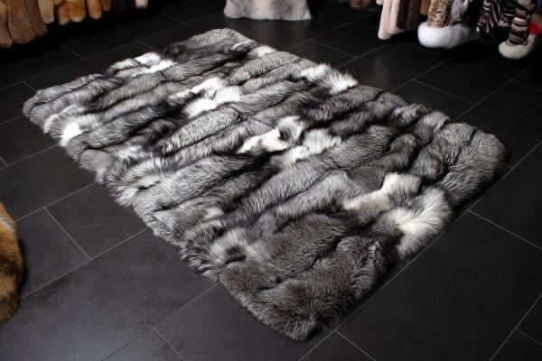 Premium Platinum Frost Fuchs Pelzteppich