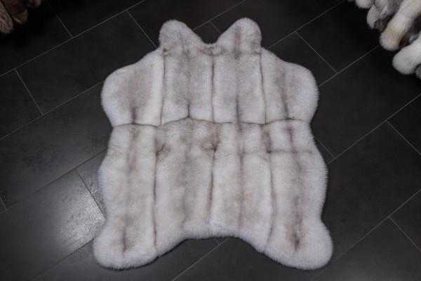 """Blaufuchs Echtpelz Teppich """"Natürliche Form"""""""