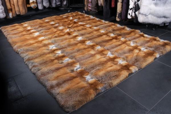 Kanadischer Rotfuchs Pelzteppich