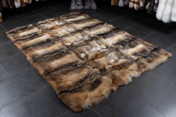 Kanadischer Kojoten Echtfell Pelzteppich - Wild Ware