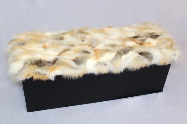Hübsche Golden Island Fuchsfell Sitztruhe mit Stauraum