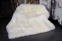 Lammfell Decke - Lamm Teppich in naturweiß