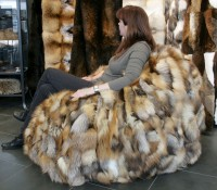 Fellsitzsack aus Fuchsseiten
