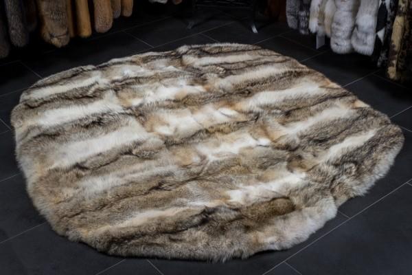 Kanadischer Kojoten Fellteppich - Runde Form