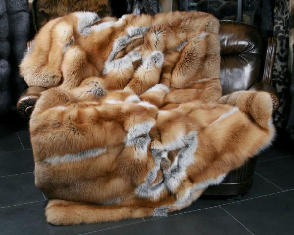 "Kanadische Rotfuchs Pelzdecke - Fur Harvesters - ""Cool Winter"""