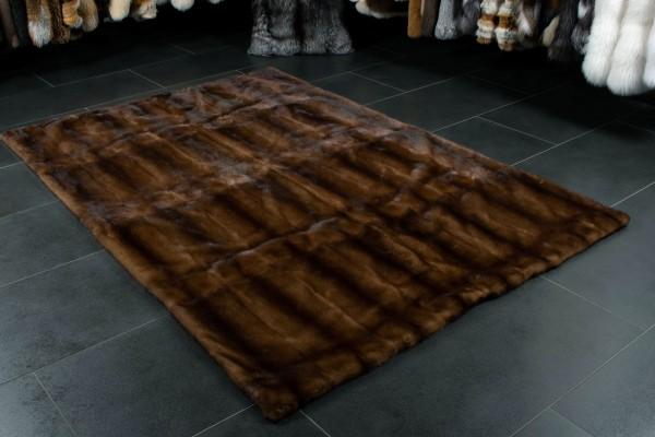 Glow Nerz Pelz Teppich aus Echtfell