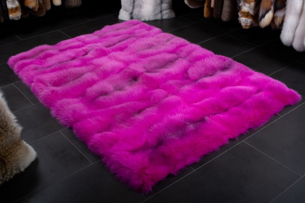 Pinker Shadow Blue Frost Fuchs Teppich