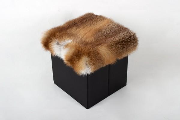 Europäischer Rotfuchs Sitzhocker aus Wildware