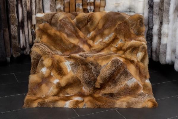 Rotfuchs Patchwork Decke aus ganzen Fellen
