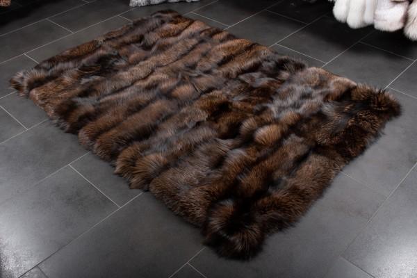 Skandinavischer Silberfuchs Fell Teppich aus Echtfell