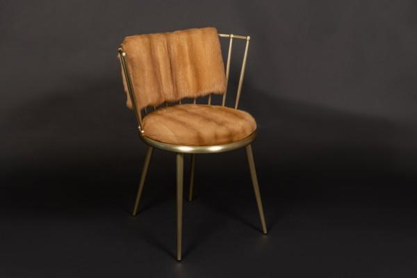 Stuhl mit Kolinsky Echtpelz Bezug