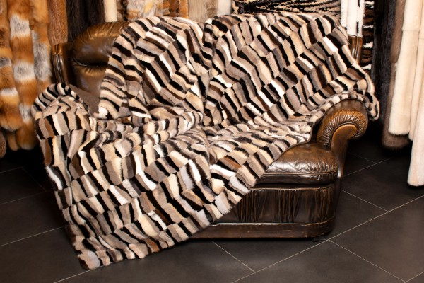 Patchwork Pelz Decke aus echtem Nerzfell