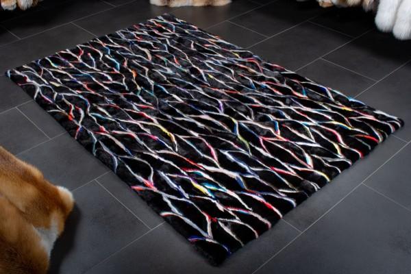 Nerzfell Teppich Multicolor