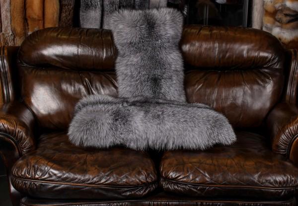 Blue Frost Fuchs Pelzkissen (SAGA Fur)