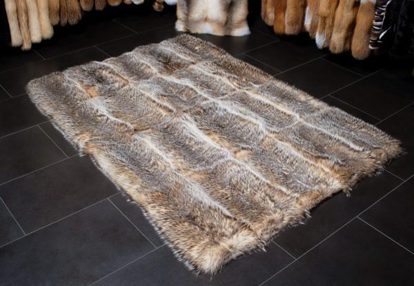 Silberdachs Fellteppich aus echtem Pelz