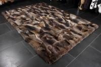 Kanadischer Waschbär Pelzteppich - Patchwork Verarbeitung