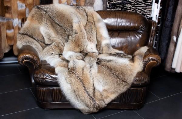 Kleine Kojoten Pelz Decke aus Wildware