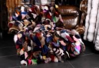 Fuchsseiten Pelzdecke aus edlen Blaufuchsseiten - Multicolor