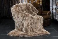 Kanadische Kojoten Echtfell Decke