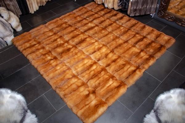 Kanadischer Rotfuchs Echtfell Teppich in XXL