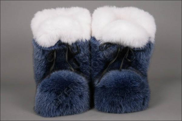 Fellpuschen aus OA Füchsen in blau