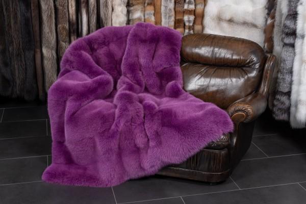 Skandinavische Shadow Fuchs Pelzdecke in Pink