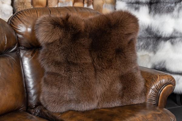 Arctic Frost Fuchskissen in Kastanienbraun
