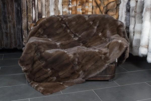 Echtpelz Decke aus Steinmardern