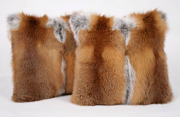 Rotfuchskissen-Pelzkissen aus Rotfuchs